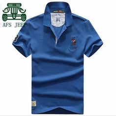 AFS JEEP New Design Classical Style Man's cotton 100% Polo shirt, Solid original brand new style short sleeve polo shirts