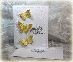 Our Daily Bread Designs Stamp sets: Trois Jolies Papillons, Wedding Blessings, ODBD Custom Dies: Trois Papillons