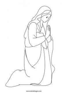 Mary, the handmaid of the Lord Catholic Coloring Page