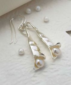 Look at this Sterling Silver Peapod Drop Earrings on #zulily today!