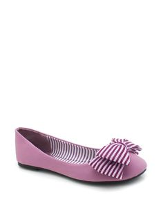 """striped bow flat"" from gojane.com #shoes"