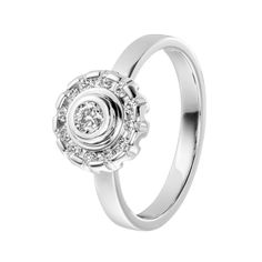 Timanttisade-sormus valkokultaa, timantit www. White Gold, Bling, Engagement Rings, Jewelry, Style, Enagement Rings, Swag, Jewel, Wedding Rings