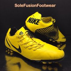 sale retailer c28ce b0a15 Nike Mens BOMBA FINALE Turf Football Trainers Yellow Black sz 12 Sneaker  47.5 13
