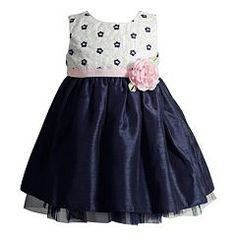 Baby Girl Youngland Woven Flower Bodice Occasion Dress