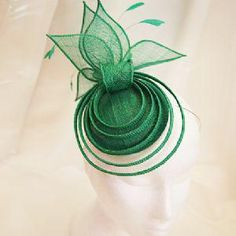 Facinator Hats, Sinamay Hats, Millinery Hats, Fascinators, Headpieces, Green Fascinator, Fascinator Headband, Fascinator Hairstyles, African Hats