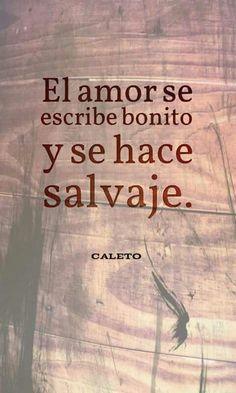 El amor se escribe bonito y se hace salvaje .... ya compre una espada ..... yo te enseno !! .... Oky