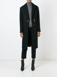 Christopher Kane safety buckle overcoat