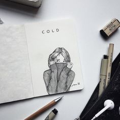Out there pen art, cool drawings, pencil drawings, art journal inspira Cool Art Drawings, Pencil Art Drawings, Art Drawings Sketches, Easy Drawings, Journal D'art, Bullet Journal Art, Art Journal Pages, Drawing Journal, Sketching