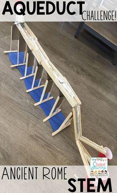 Aqueduct Challenge for Ancient Rome STEM! Part of the Ancient Civilizations STEM Series