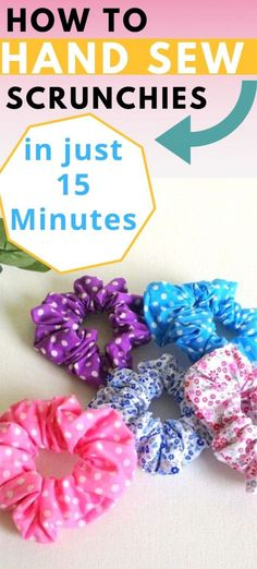 How to Hand- Sew a Scrunchie in 15 Minutes - Sew Crafty Me