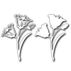 Cutting Die - Easter Lily (set of 2 dies)