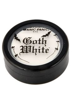 Goth White Cream Powder - Gothic Makeup (hey look a foundation MAYBE pale enough for my skin. ha.)