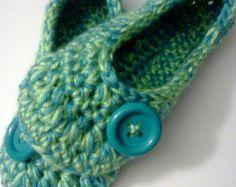 Women's Crochet Team Slippers Team Colors Crochet by GrammaLeas