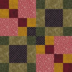Four Square Quilt Block Pattern - Janet Wickell
