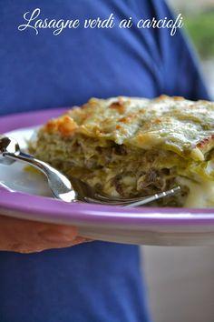 Cucina di Barbara: food blog - blog di cucina: Ricetta lasagne verdi con carciofi