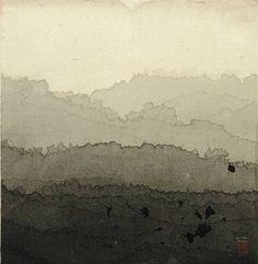 Minjung Kim ~ Landscape, 2002 (ink on rice paper)