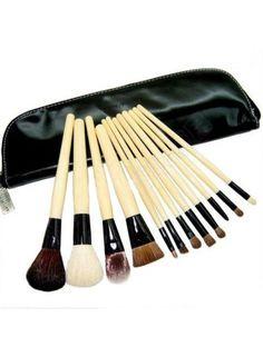 12 PCS Brush Set Makeup Cosmetic Tool Travel Pouch Case Bag Kit (20% OFF │ $19.02)