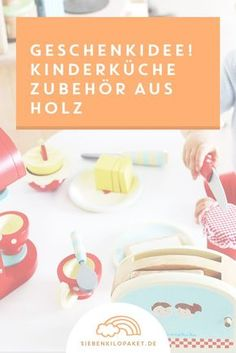 Spielzeug Baby Holztablett Frühstück Kinderküche Holz Kaffee Kuchen