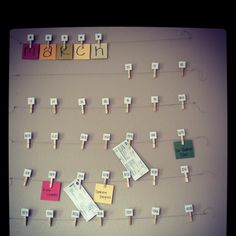 Look what I made! Clothespin calendar