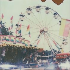 Items similar to Photograph landscape Carnival Ferris wheel vintage... ❤ liked on Polyvore featuring backgrounds, pictures, photos, tumblr and filler