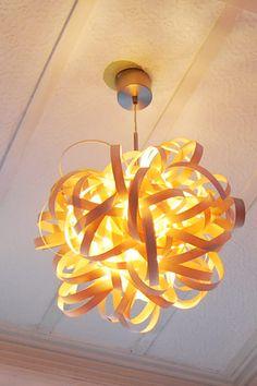 DIY Veneer Lamp Shade. LOVE this!