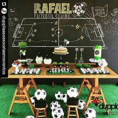 home party ideas Soccer Birthday Parties, Football Birthday, Soccer Party, Sports Party, Soccer Theme, Football Themes, Christmas Cake Decorations, Event Planning Business, 50th Party