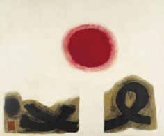 thunderstruck9:  Adolph Gottlieb (American, 1903-1974), Excalibur #2, 1963-64. Oil on canvas, 228.6 x 275.3 cm.