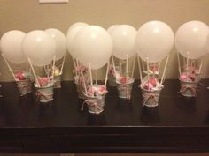 Ideas For Baby Shower Party Favors Ideas Air Balloon Baby Party, Baby Shower Parties, Baby Shower Gifts, Baby Shower Favors Girl, Baby Shower Balloons, Birthday Balloons, Balloon Party, Balloon Ideas, Fiesta Shower