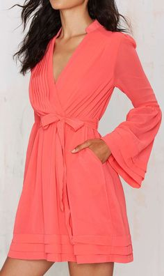 Love the Nasty Gal Baby Love Chiffon Dress - Coral on Wantering. Pretty Outfits, Pretty Dresses, Beautiful Outfits, Cute Outfits, Pink Chiffon Dress, Sheer Dress, Babydoll Dress, Looks Cool, Dress Me Up
