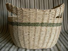 Woven Paper Basket / Bin