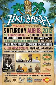 Tiki Bash at Abacoa Town Center Saturday August 18th 2012