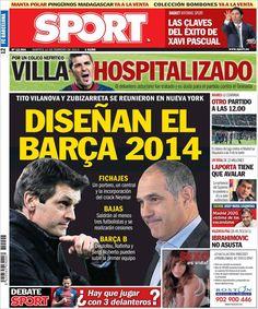 Los Titulares y Portadas de Noticias Destacadas Españolas del 12 de Febrero de 2013 del Diario Deportivo SPORT ¿Que le parecio esta Portada de este Diario Español?
