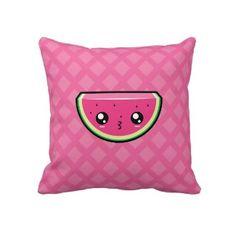 Cute Kawaii Watermelon Pillow throwpillow