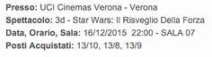 """16/12/2015, nei cinema italiani esce, finalmente, """"Star Wars - Il Risveglio della Forza"""". Il mio terzo film della saga su 7 totali, fino ad ora, che vedo al cinema. Questa volta con mio fratello e @martinab1989 il giorno d'uscita. Non sto più nella pelle."""