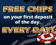 $/£/€ 25 No Deposit Bonus      Get a $/£/€ 25 Free Casino Chip when signing up a new real money account.     A maximum of 1 bonus per household/computer/person.     The minimum wagering before cashing out is 50 times the bonus.     The following games have been excluded from the promotion: Baccarat, Roulette, Craps,     Keno, Double Up and Progressive Slot Games.