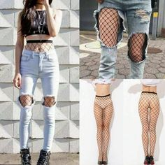 a4880e98662 Fashion Black Sheer Women s Mesh Fishnet Stockings Sexy Ladies Pantyhose  Tight  fashion  clothing