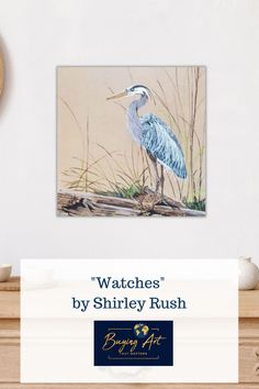 Shirley Rush painted this realistic heron in the marsh later in her  life and it is now for sale on Buying Art That Matters website. One of  our missions is to help children sell their parent's art so that their  gifts can be shared with others. We want to help aging artists and their  children leave a legacy, not a mess!Half the proceeds from out website  go to fund Christian Mission projects across the globe. #artforsale #realisticart #natureart #birdart #artwithmeaning Realistic Paintings, Acrylic Paintings, Art Paintings, Original Artwork, Original Paintings, Art With Meaning, Mission Projects, Modern Portraits, Realism Art