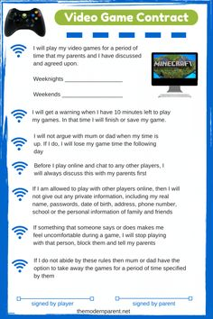 video game contract Parenting Teens, Parenting Hacks, Parenting Humor, Grace Based Parenting, Curriculum, Game Tester Jobs, Screen Time For Kids, Video Game Addiction, Addiction Help