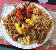 Personas en China comeràn comida China. En realidas Los personas comerìan otro comida.