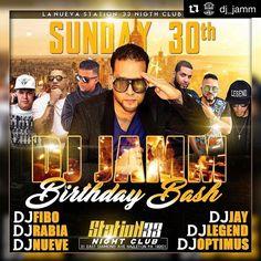 Felicidades mi hermanito DJ JAMM!!!! Mio personal #Repost @dj_jamm  Una edición especial de Domingo millonarios celebrando mi cumpleaños toda la noche con masde 7 djs bailarinas y más sorpresas. Te espero en station33 arrancamos a las 6:00pm aquí va la cartelera @djrabia @djnuevenyc @djfibo_ks #djoptimus @djjay_nyc @djlegendpa @djfibo_ks y este servidor @dj_jamm dije movie @mariachibudda @andujarmusic1 #lirico #elmotorcito