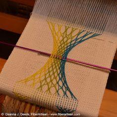 from a språng and weaving class run by Deanna J. Deeds