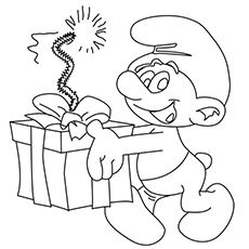 The-Smurf-Bringing-in-the-Birthday-Gift