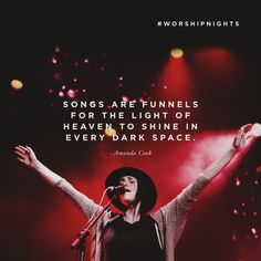 """#WorshipNights would serve as a shot in the arm. We would give just as much attention to detail to smaller events as we do to the larger gatherings. """"Songs are funnels for the light of heaven to shine in every dark space."""" -Amanda Cook (""""singing declarations over our cities"""")"""