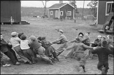 FINLAND. 1948. Village of Naarva. Students of a country school during by Werner Bischof