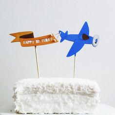 Flying Plane Cake Topper, $25.00