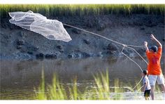 Cast netting at Edisto Beach State Park