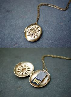 USB locket. I've always wanted a locket but only if it is personalized. I like the idea of this one and how you can add more personalization