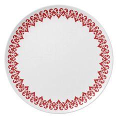 Holiday Plastic Plate-Valentine Hearts Melamine Plate  sc 1 st  Pinterest & Holiday Plastic Plate-Valentine Hearts Dinner Plate | Plastic plates ...