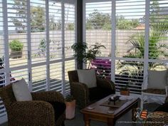Enclose your porch, lanai, or veranda with Weatherwell Shutters to block rain, wind, and sun.  They provide privacy as well.  Open completely to allow easy access to yard, pool, or lake.  Open louvers only to let in cool breezes.  Perfect for a Lake Keowee or Cliffs of Glassy home in South Carolina.