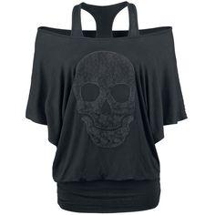 Las camisetas mas increíbles las puedes encontrar en Rock Rebel de EMP. La manga larga Lace Skull sirve de ejemplo. En look murciélago y doble capa con ancho cuello. Por delante tiene un gran iserto de una calavera muy llamativa! ...